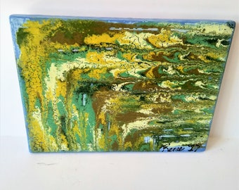 "Chemistry - 8"" x 6"" Original Abstract Ceramic Painting"