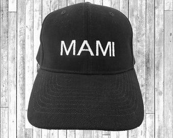 Mami Embroidered Baseball Cap 6 Panel Fashion Hat Tumblr Pintrest Trends