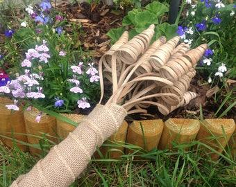 Rustic overarm bridal bouquet, natural cane cone bouquet, simple bouquet, autumn bouquet, woodland bouquet, natural bouquet, wedding