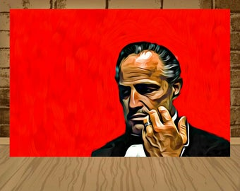 The Godfather poster,The Godfather print,The Godfather art,movie poster,movie print,movie art,godfather,gift ideas,great posters,home decor