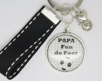 customizable Keyring for Dad, brother, friend, football fan, football: father's day