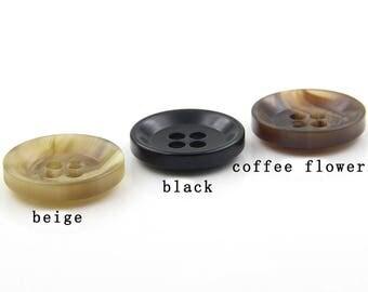 Matt Beige Buttons ResinGem Coat Light Sewing DIY(17mm-31mm)- r154