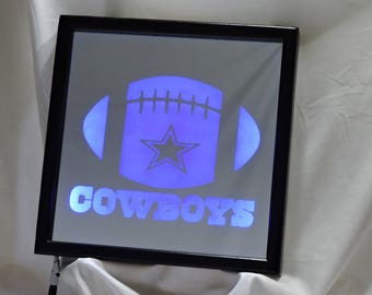 Dallas Cowboys Football LED Remote Controlled Mirror