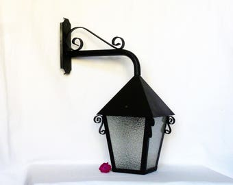 Wrought iron old Lantern / Lantern outside / Chandeliers and suspension / Wall lantern / lamps and lighting / Home decor.