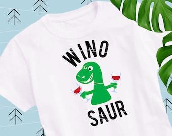 Winosaur SVG Wine Dinosaur SVG Drinking wine svg Cricut Silhouette Cutting File lfvs
