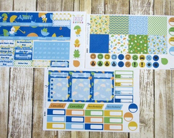 April Monthly Sticker Set, CLASSIC HAPPY PLANNER, April Showers Monthly, Rainy day monthly