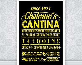 Chalmun's Cantina Star Wars Poster