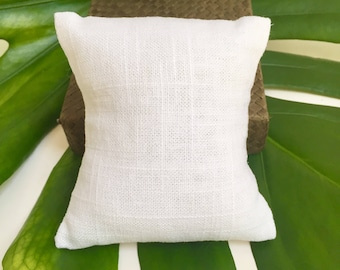 White Linen Pillow for Stack Bracelets