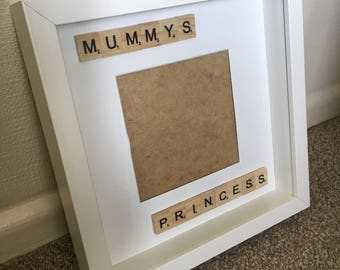 Mummys princess mum scrabble photo frame