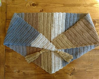 Caramel kerchief scarf