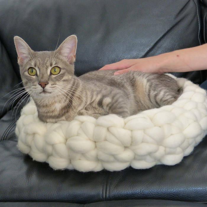 corbeille dormir pour animaux de compagnie lit pour chat ou. Black Bedroom Furniture Sets. Home Design Ideas