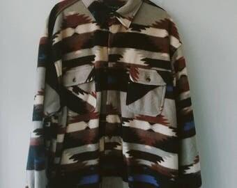 80's Scandia Woods Fleece Button Up Shirt
