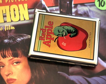 Red Apple Cigarette Case with built in lighter. Pulp Fiction cigarette case