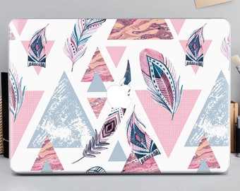 Feather macbook air 13 hard case case geometric macbook cover 12 macbook pro case hard macbook pro retina 15 macbook hard cover pro mCA_023