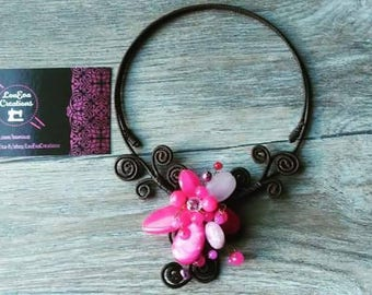 Stretchy flower Flowers Fashion necklace