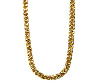10K Yellow Gold Two-Tone Franco Chain