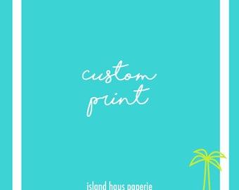 Custom print, Daniel Island, South Carolina
