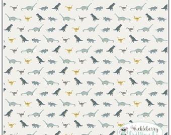 Fossil Rim, Tiny Dino Cream, Riley Blake Fabric, Deena Rutter, Dinosaur, Quilting Fabric, Cotton Fabric, Yardage