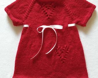 Knit baby dress  CHRISTMAS