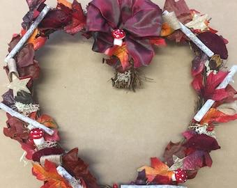 Autumn Wicker Heart
