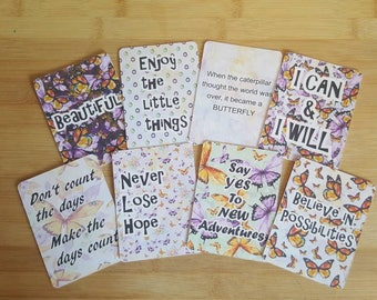 8 3x4 Journaling cards - Butterfly themed / Journal cards - planner decoration / scrapbooking / project life