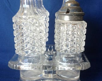 5 Piece Castor / Cruet /Condiment Set