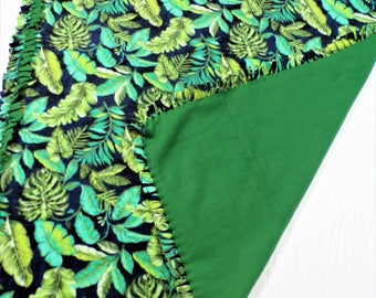 Tropical Themed Fleece Blanket