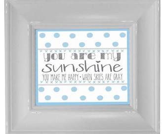 Blue My Sunshine - Framed Art