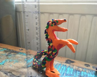 Polymer clay rainbow dragon