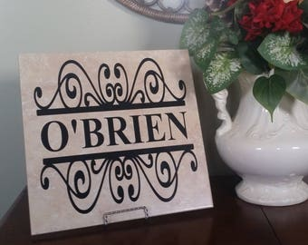 Personalized Plaque, 12x12 Name Tile, Gift, Yard, Home, Welcome