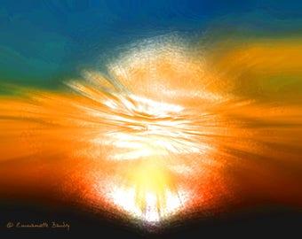 2 seconds after the Big Bang - abstract digital art