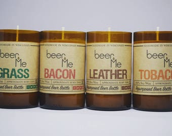 100% Soy Wax Candles Made Using Recycled Beer Bottles