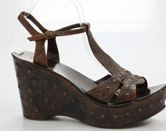 VAT collection sandals with wedge / wedge / size. 41