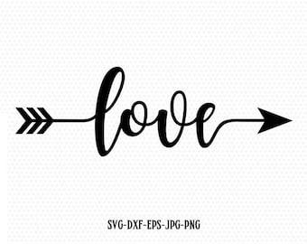 Love Valentine SVG, Valentines Day SVG, Love arrow SVG, CriCut Files frame svg jpg png dxf Silhouette cameo