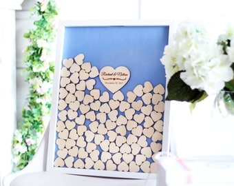 Guest Book Wedding Guest book Alternative Wood Custom Guest Book Wedding Drop box Guest Book ideas unique Wedding Guestbook Book Heart