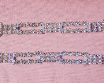 2 Three Stranded Rhinestone Chain Perfect To Make Bracelets