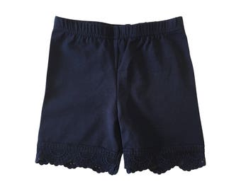 Underbottom Shorts with Lace Trim