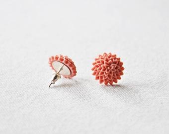 Mauve Floral Earrings