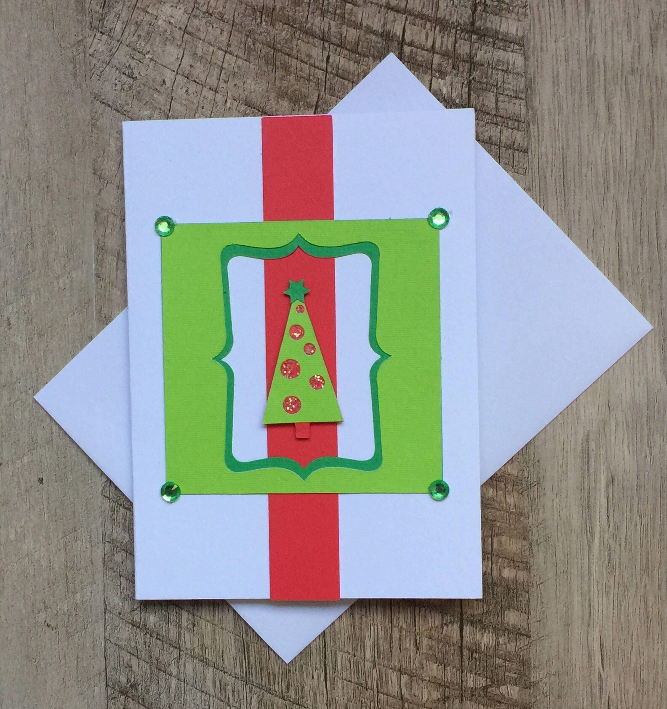 Handmade Christmas Card Christmas Tree Die Cut Embellishments