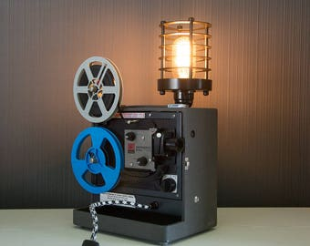 Upcycled Kodak Projector - Upcycled Projector Lamp - Steampunk Lamp - Edison Lamp - Upcycled Lamp