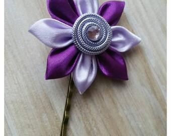light purple and purple kanzashi hair pin