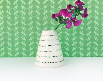 Dotted Stripe Bud Vase