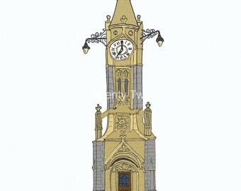 Torquay Clock Tower - Canvas