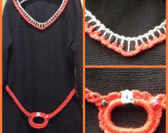 Soldes30%!  Code: SOLDESCNS. Beautiful dress for girl 10 T8 Decor acrylic crochet handmade