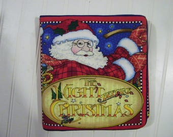 Cloth Quiet Book, Night before Christmas soft cloth book