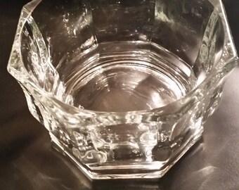 Octagon shaped crystal bowl