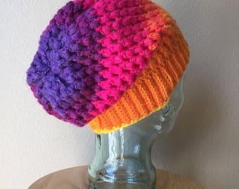 Puff Stitch Slouch Hat