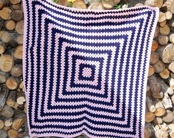 Hand Knitted Baby / Toddler Blanket