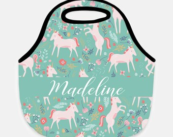 Unicorn lunch tote, Unicorn lunch box, Unicorn lunchbox, Personalized lunchbox, Adult lunch tote, Children's lunchbox, Horse lunchbox, Tote