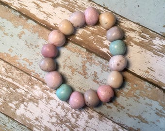 Multi colored stone beaded necklace